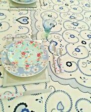 Rectangular Vintage  Floral Cotton Tablecloth