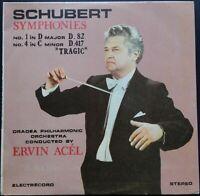 Schubert - Symphonies No. 1 & 4, ERVIN ACÉL, Oradea Philh., Electrecord STEREO