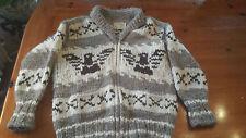 Genuine COWICHAN $500 Vintage Knit Canada Cardigan Sweater Wool M/L Big Lebowski