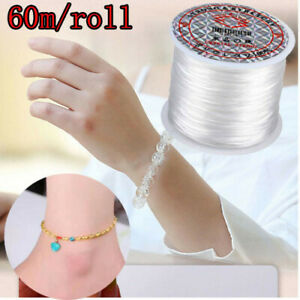 60m Strong Elastic Stretchy Beading Thread Cord For DIY Bracelet String Making