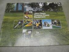 Vintage John Deere Outdoor Power Equipment Sales Brochure 1976