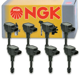 ENA Ignition Coil and Spark Plug Set of 8 Compatible with 1997 1998 1999 2000 2001 Infiniti Q45 UF282