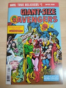 Giant Size Avengers #4 Reprint Marvel Comics True Believers Vision Scarlet Witch