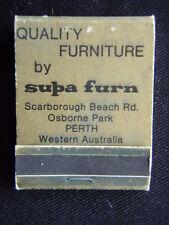 SUPA FURN QUALITY FURNITURE SCARBOROUGH BEACH RD OSBORNE PARK MATCHBOOK