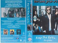 BON JOVI KEEP THE FAITH THE VIDEOS VHS PAL VIDEO~ A RARE FIND