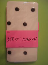BETSEY JOHNSON HOLIDAY TIGHTS SHEER FUZZY FLOCKED POLKA DOT S/M NEW