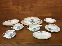 Antique Martha Washington China by F.C. Co. Serving Dishes (9 pcs.) - USA