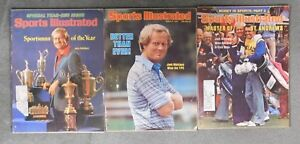 """Jack Nicklaus Lot Of 3 Sports Illustrated Magazines """"1978 Sportsman Of The Year"""""""