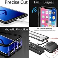 Magnetic Absorption Metal Bumper Glass Case Cover For Samsung Galaxy S7 S7 Edge