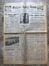 July 1965 Vietnam War Saigon Daily News daily newspaper Lodge Taylor Lbj Lovell