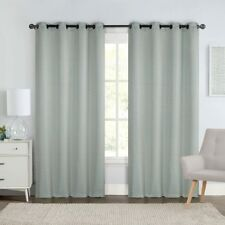 """Chevron Embroidered Curtains 55""""Wx90""""L Grommet Top Jacquard Panels (Set of 2)"""