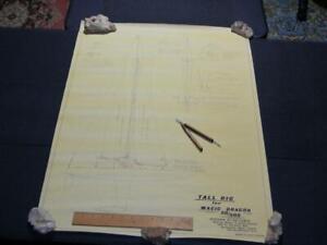 Very Rare Authentic Ship Boat RC Plan Ozmun's Magic Dragon O-1-M  for Model/Wall
