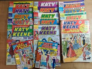 Katy Keene Archie Romance Series Comic Book LOT of 16 1986-90 Pin Up Parade 2