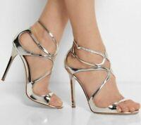 Women Stiletto High Heels Ankle Strap Buckle Leather Sandal Peep Toe Pumps Shoes