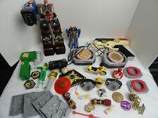 Vintage Power Rangers Toys Lot Bandai Deluxe Shogun Accessories Coins