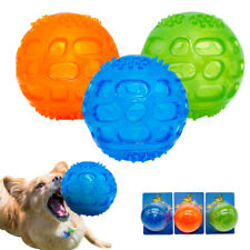 Pet Dog Chew Toy Ball Squeak Sound Toys Chew Bite Resistant Tooth Cleaning Balls
