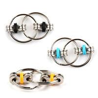 3 Pack Prime Focus Fidget Toy Flippy Chain KeyChain Hand Spinner Stress Relief