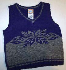 Nwot Gymboree Blue Gray Snowflake Sweater Vest Wool 3-6 Months C-2