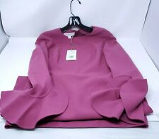 Michael Kors Collection Mauve Sz 8 Crepe Ruffle 3/4 Sleeve Dress Made in Italy