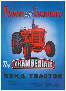 Chamberlain 55KA Tractor Metal Repro Sign (VM055)