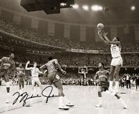 Michael Jordan Shot NCAA Winner W/ Autograph Reprint 8x10 Photo Reprint Iconic