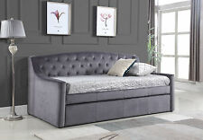 Brand New Velvet Fabric Dream DayBed With Trundle Grey