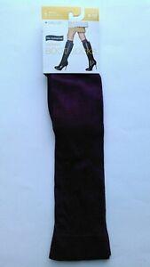 No Nonsense Womens Tall & Skinny Boot Socks, Deep Burgundy, Size 4-10