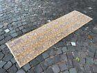 Organic vintage runner rug, %100 wool, Turkish rug, Bohemian rug | 1,8 x 6,0 ft