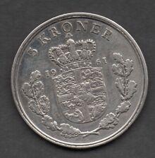 Denmark 5 kroner 1961 coin