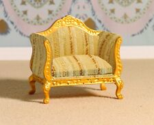 Ornate Gold Armchair 1:12th Scale for Dolls House Lounge or Bedroom