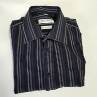 Balmain Paris Men's Black Striped Dress Shirt | Size 16.5 36/37 | FLAWED