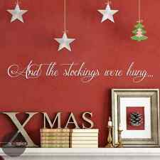 And The Stockings Were Hung Vinyl Wall Decal Sticker