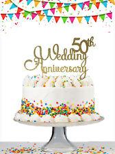 50th 25th Wedding Anniversary Custom Glitter Cake Topper Any Year Personalised