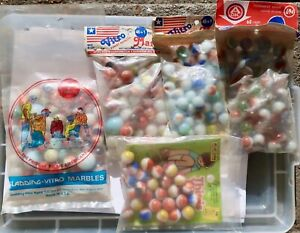 Vintage Vitro Agate Marbles; 5 Labeled Bags-See Details