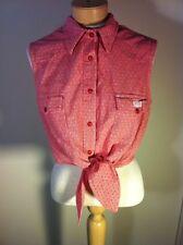 REDUCED! Women's Vintage Guess Jeans Crop Top TieUp Sleeveless Shirt