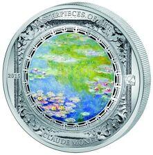 Cook Islands $20 2015 MASTERPIECES OF ART-WATER LILIES-CLAUDE MONET - 3 Oz Ag