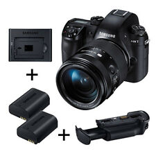 Samsung NX1 4K  k/w 16-50mm S lens +Grip + Charger Smart Value Pack -Exp Ship