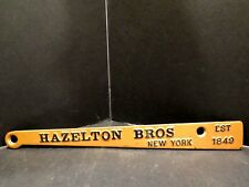 ANTIQUE Hazelton Brothers Grand Piano SIGN NAMEPLATE IRON ENAMELED 1849 BROS. NY
