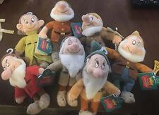 """Disney 7 Dwarfs Plush Toys Set """"Read Description"""""""