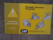 1985 EMI Rough Terrain Forklift Truck Safety Manual MORE LIFT ITEMS IN STORE  V