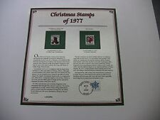 13 Cent Washington at Valley Forge and Rural Mailbox 1977 Christmas Stamps
