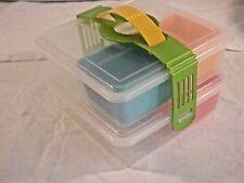 Picnica Plastic 2-Tier Bento Lunch Box Set No Moisture Mat Used VGC