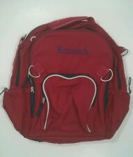 Pottery Barn Kids Large Fairfax Red and Blue Backpack with name KENNETH New