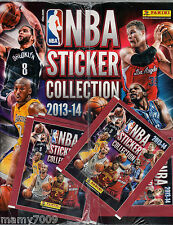 NBA STICKER COLLECTION 2013-14 PANINI= Album figurine vuoto+3 BUSTINE SIGILLATO