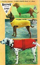 Dog Coats knitting pattern.  Laminated copy.