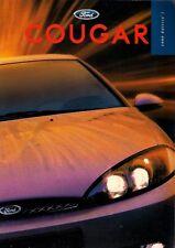 Ford Cougar 1998-99 UK Market Sales Brochure 2.0 16v 2.5 V6 24v X