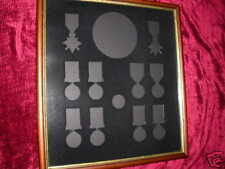 Impressed Frame to house all WW1 Issued Medals/Plaque