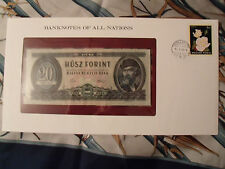 Banknotes of All Nations Hungary 20 Forint 1975 P 169f UNC BIRTHDAY 1999