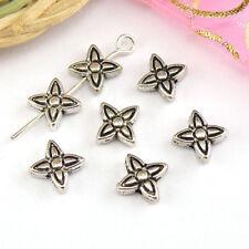 20Pcs Tibetan Silver Star Flower Spacer Beads 6.5x7mm A480