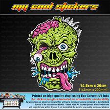 Zombie Head 20cm high Vinyl Sticker Decal for car, ute, 4x4, skate board
